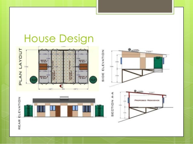 Low cost housing presentation for Cost of house plans