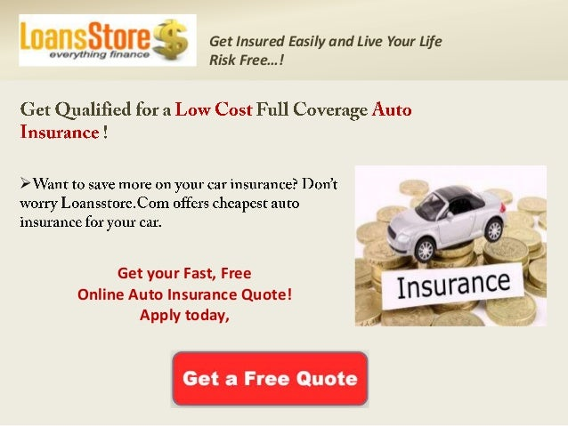 Low Cost Auto Insurance >> Low Cost Full Coverage Auto Insurance With Cheapest Rates