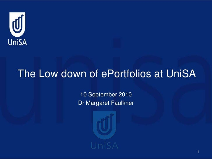 The Lowdown on e-Portfolios at UniSA