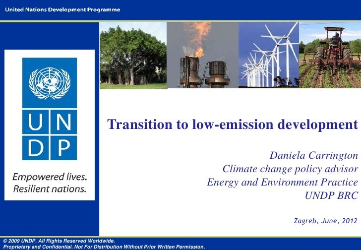 Transition to low-emission development                                                                                    ...
