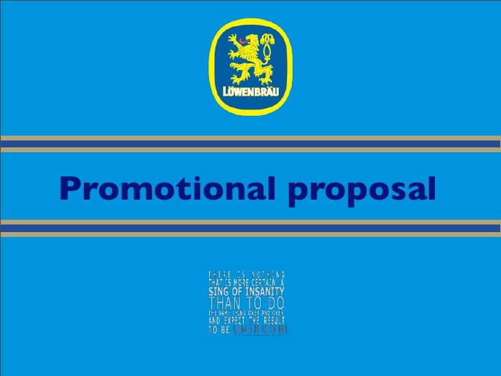 Promotional proposal
