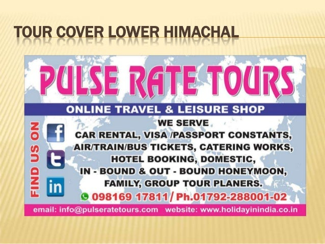 TOUR COVER LOWER HIMACHAL
