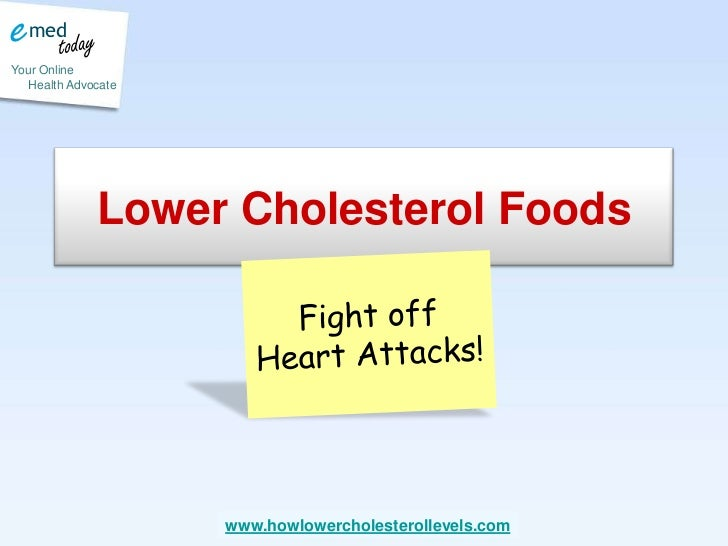 Lower Cholesterol Foods <br />Fight off Heart Attacks! <br />
