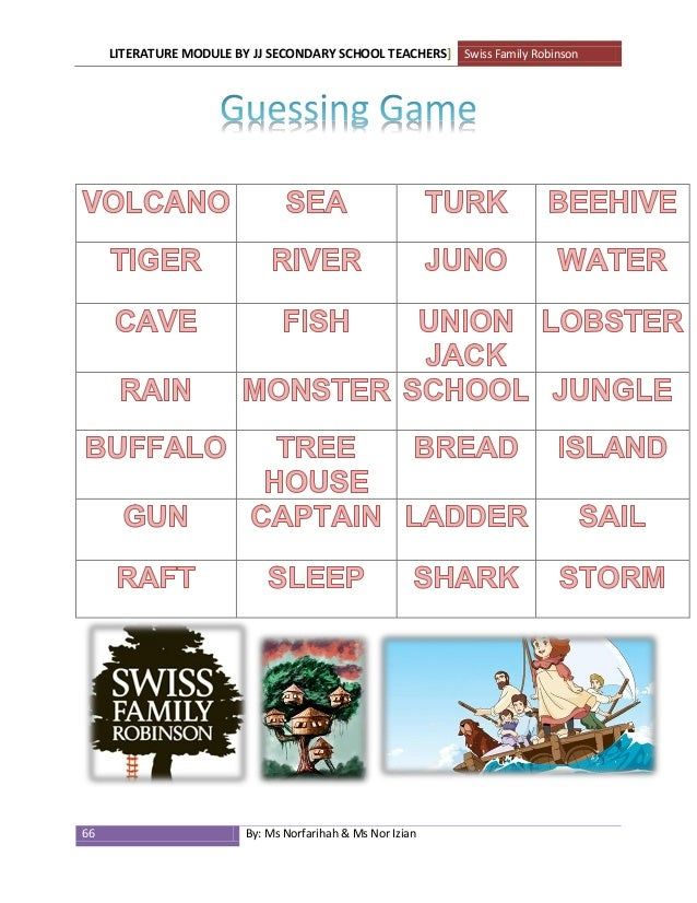 lower form rh slideshare net Swiss Family Robinson Cartoon swiss family robinson study guide answers