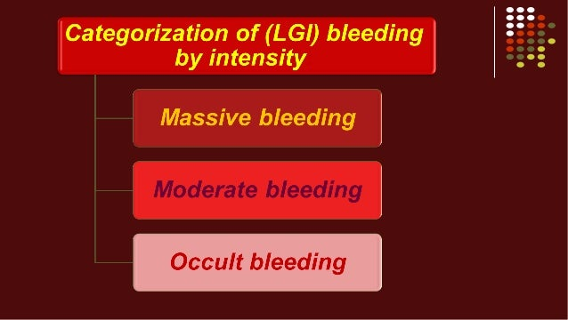 Lower Gi Bleed