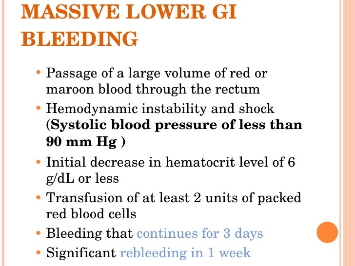 Lower gi bleeding sciox Images