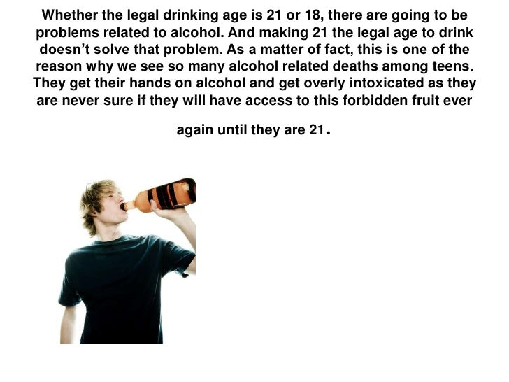 The Drinking Age Should Be Lowered, Fast