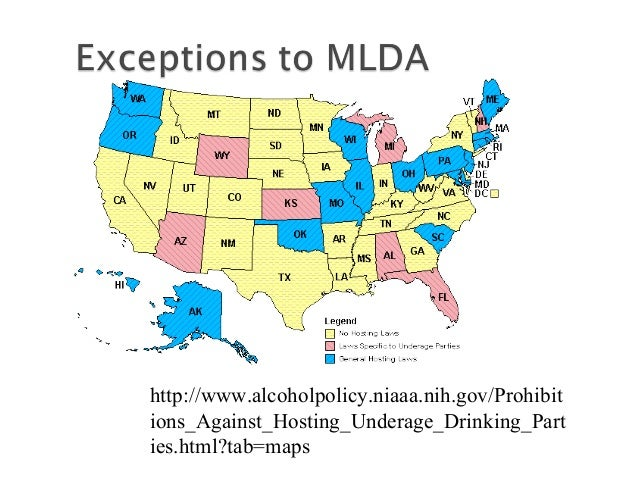 lowering the mlda in the us Proponents of lowering the minimum legal drinking (mlda) the pros & cons of lowering the drinking age 18 is the age of adulthood in the united states.