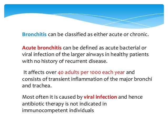 Acute Exacerbations of Chronic Bronchitis (AECB) are frequently due to non-infective causes along with viral ones. 50% of ...