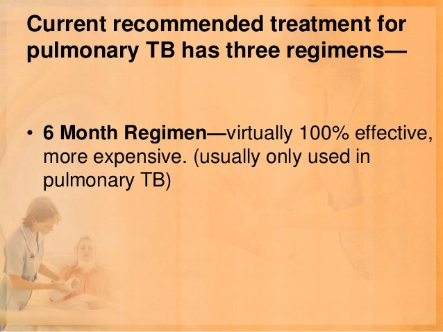 Regimen 2—very cheap,effectiveness is 80-90%Isoniazide            1    tablet      daily                      (300mg)Table...