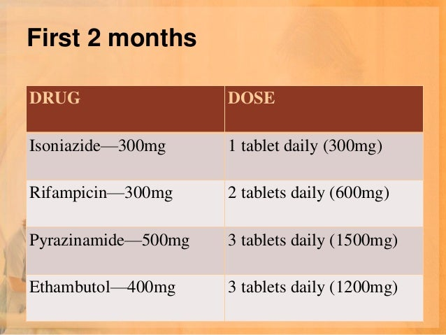 Prophylactic Dose• Isoniazide is indicated for the prophylactic  use of TB, the dose is 300mg/day  (5mg/kg/day) or 900mg t...