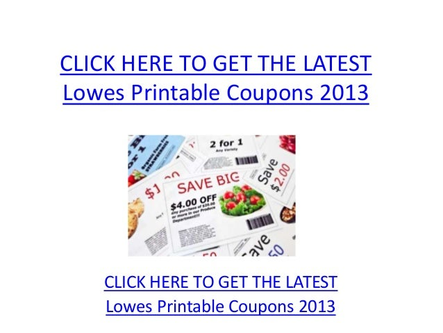 photograph relating to Lowes Printable Coupons called Lowes Printable Coupon codes 2013 - Lowes Printable Coupon codes 2013