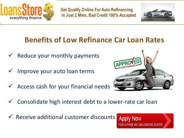 Refinance Car Loan With Bad Credit >> Lowest Auto Loan Refinance Rates
