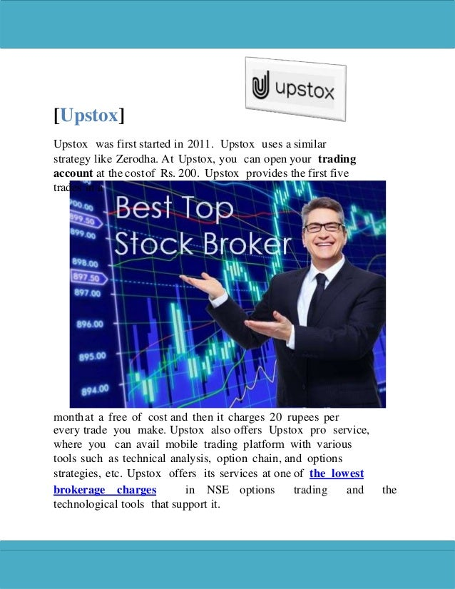 Lowest brokerage charges in options Trading in India