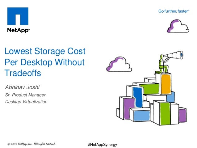 Abhinav Joshi Sr. Product Manager Desktop Virtualization Lowest Storage Cost Per Desktop Without Tradeoffs #NetAppSynergy