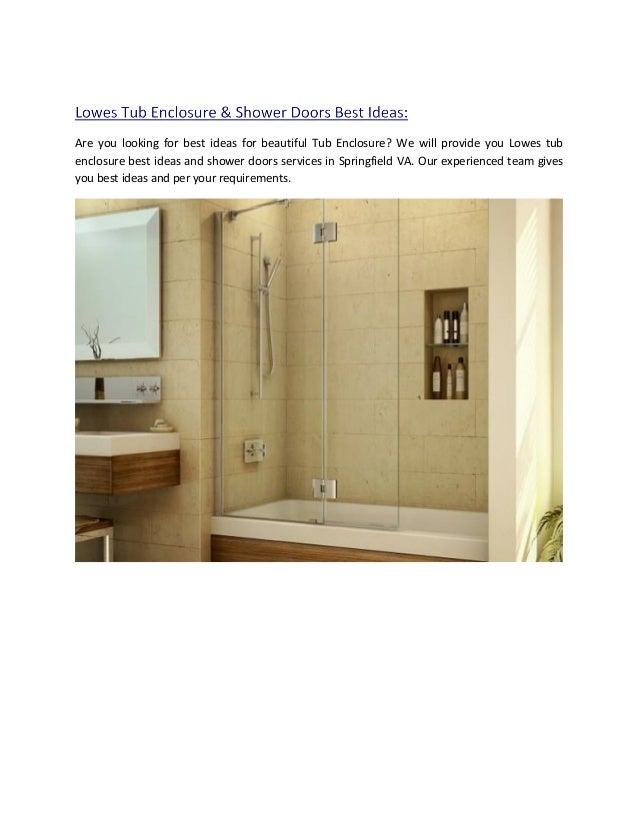 Lowes Tub Enclosure & Shower Doors Best Ideas in Springfield VA