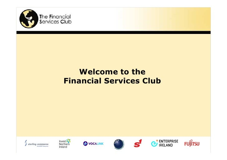 Welcome to the Financial Services Club