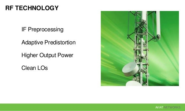AVIAT NETWORKS RF TECHNOLOGY IF Preprocessing Adaptive Predistortion Higher Output Power Clean LOs