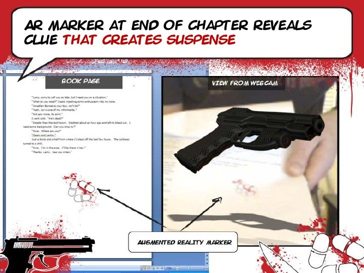 Ar marker at end of chapter reveals clue that creates suspense