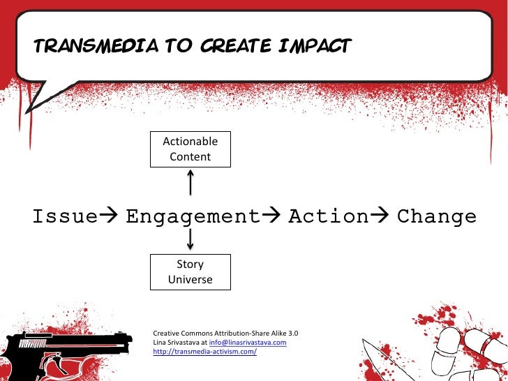 Transmedia to create impact                 Actionable              Content    Issue Engagement Action Change          ...