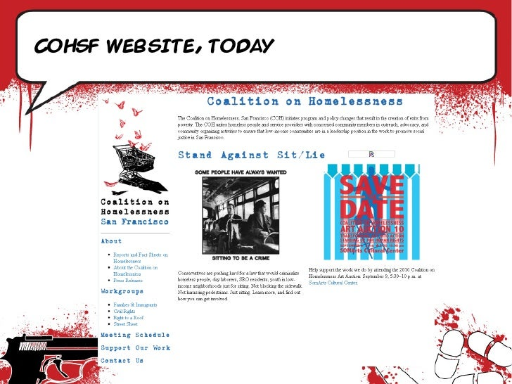 CoHsf website, today