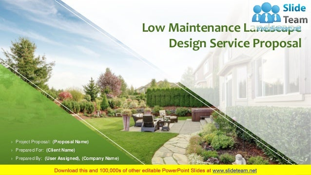 Low Maintenance Landscape Design Service Proposal ...