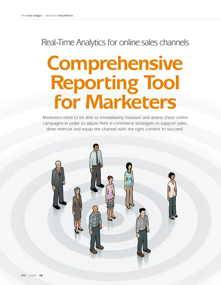 Text Cees Steijger ~ Illustration iStockPhoto                 Real-Time Analytics for online sales channels               ...