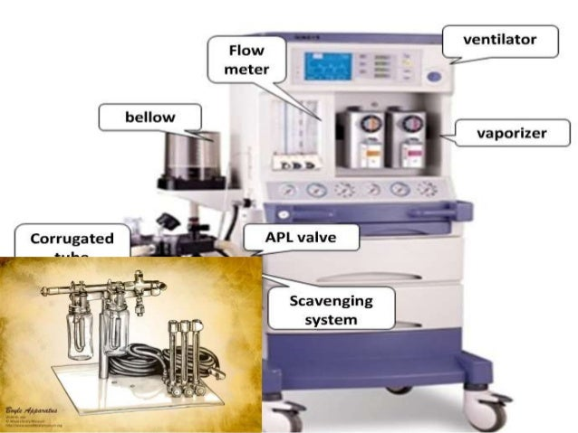 Low pressure system in anaesthesia machine