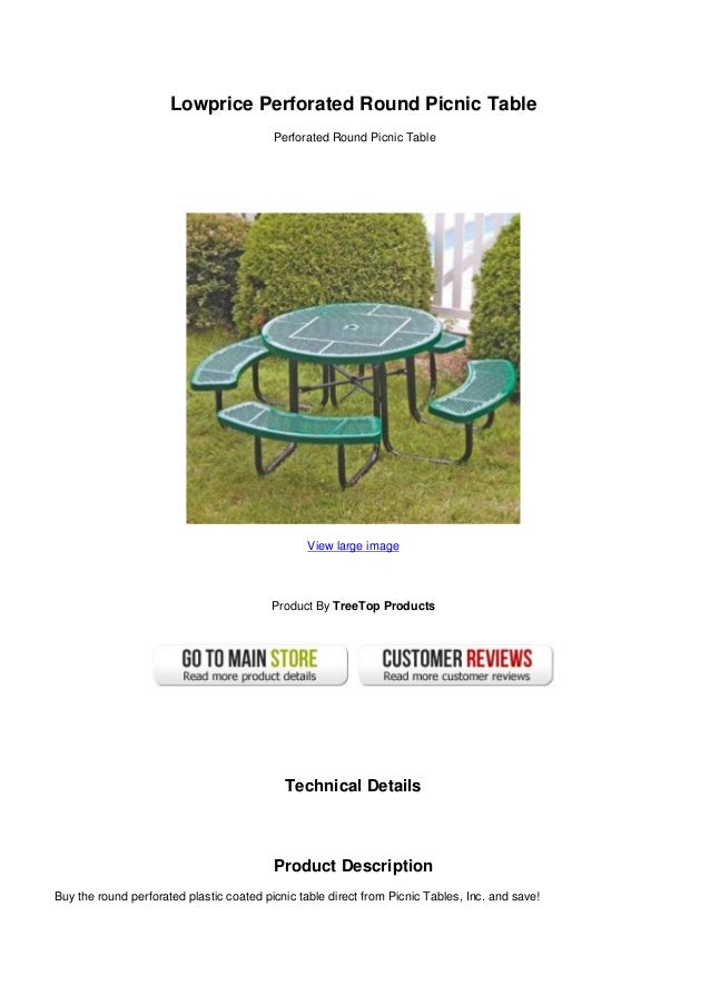 Lowprice Perforated Round Picnic Table - Large round picnic table
