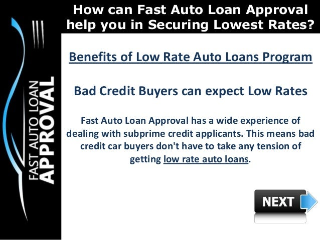 3.  sc 1 st  SlideShare & Low Interest Rate Car Loans : How can Fast Auto Loan Approval help Pe\u2026