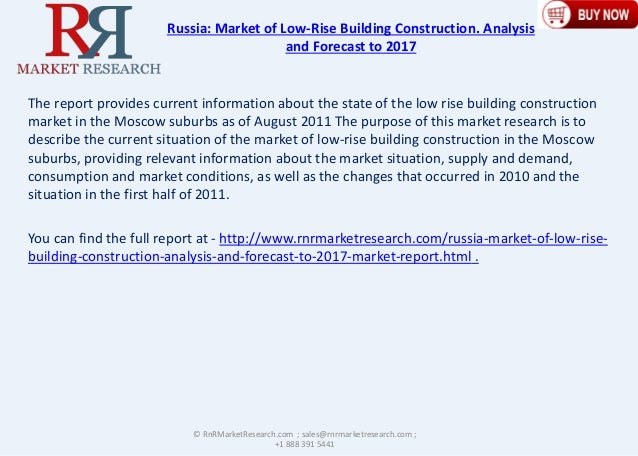 Russian Low Rise Building Construction market Analysis and Forecast to 2017 Slide 2
