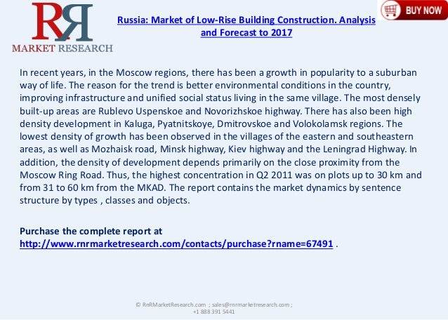 Russian Low Rise Building Construction market Analysis and Forecast to 2017 Slide 3