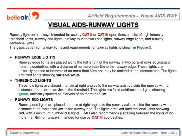 Airfield Requirements – Visual AIDS-RWY                        VISUAL AIDS-RUNWAY LIGHTSRunway lights on runways intended ...