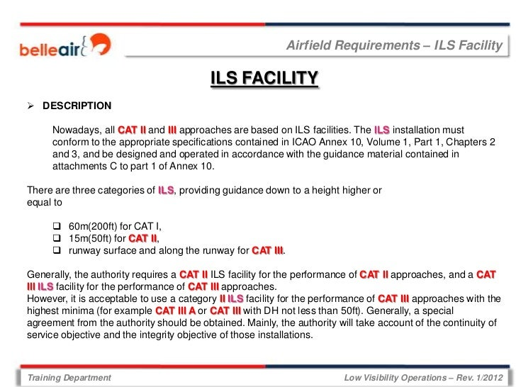 Airfield Requirements – ILS Facility                                          ILS FACILITY DESCRIPTION     Nowadays, all ...
