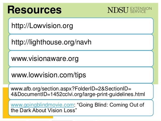Low Vision A Guide For Educators
