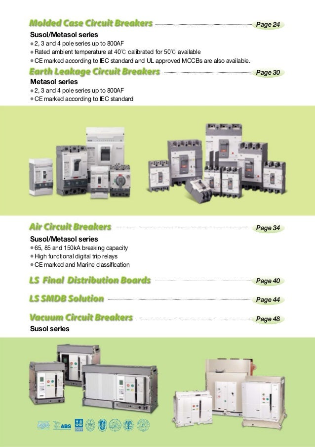 low voltage circuit breakers contactors general leaflet ls