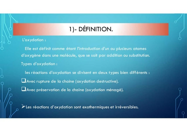 L'oxydation Slide 2