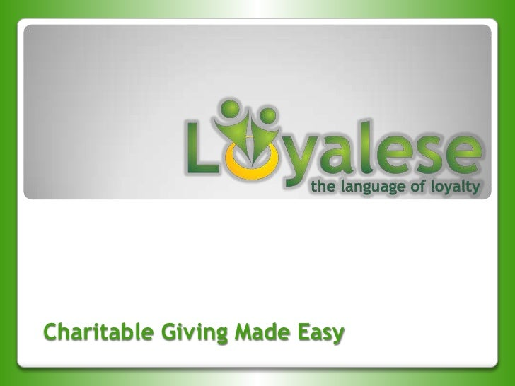 Charitable Giving Made Easy<br />