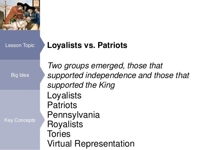 Essay about choosing patriot or loyalist