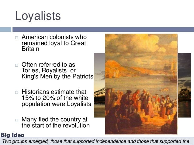 patriots vs loyalists impacts on the Top 10 reasons why the americans were able to defeat the british why were the japanese able to defeat the british in the war for malaya and singapore in 1942.