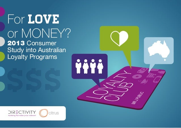 1For loveor MONEY?2013 ConsumerStudy into AustralianLoyalty Programs