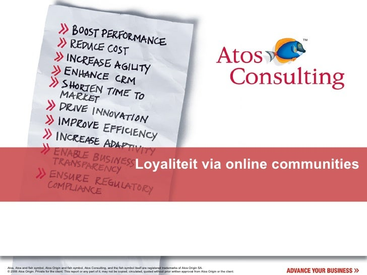 Loyaliteit via online communities