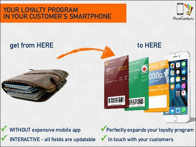 YOUR LOYALTY PROGRAM IN YOUR CUSTOMER'S SMARTPHONE get from HERE to HERE ✓ WITHOUT expensive mobile app ✓ INTERACTIVE - al...