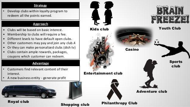 Kids club Youth Club Entertainment club Casino Philanthropy Club Adventure club Sports club Royal club Shopping club Strat...