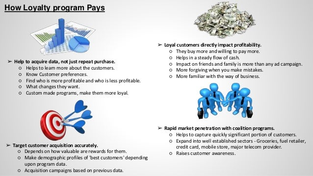 How Loyalty program Pays ➢ Help to acquire data, not just repeat purchase. ○ Helps to learn more about the customers. ○ Kn...