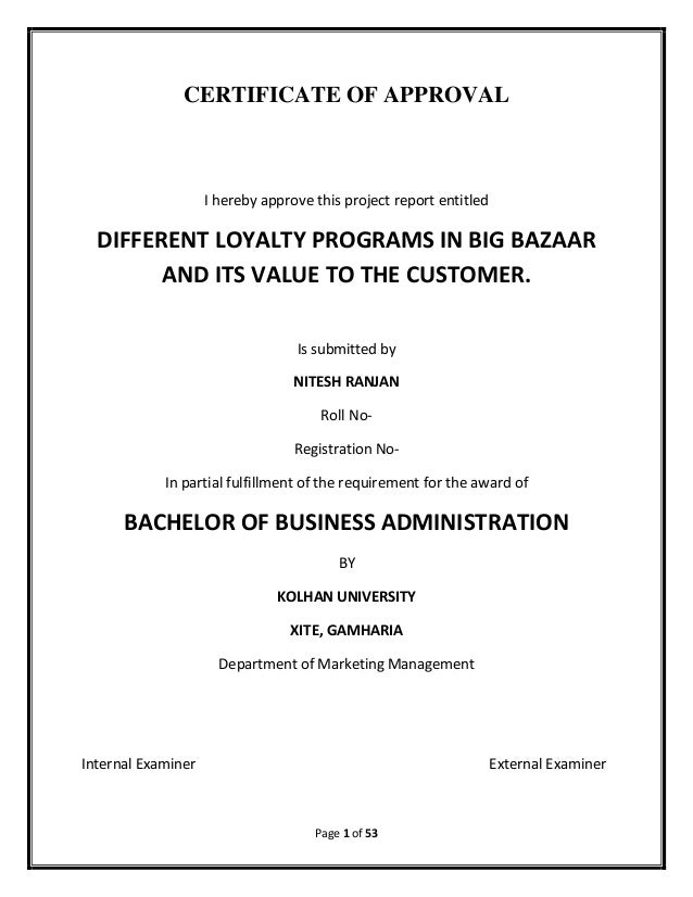 Literature review on customer loyalty initiatives in big bazaar