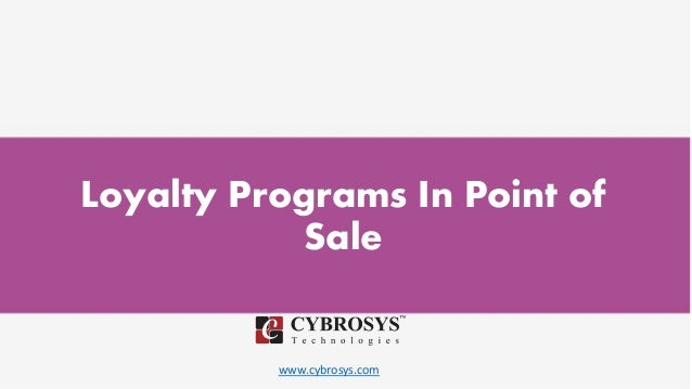 www.cybrosys.com Loyalty Programs In Point of Sale