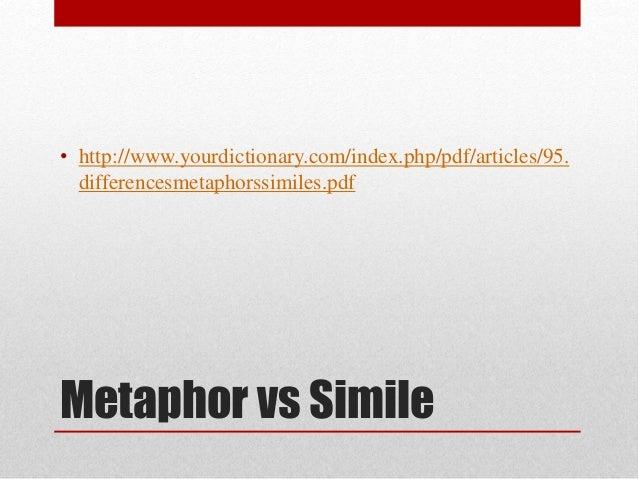 Lp 03.05 metaphor and simile