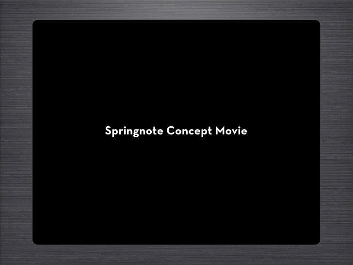 Springnote Concept Movie