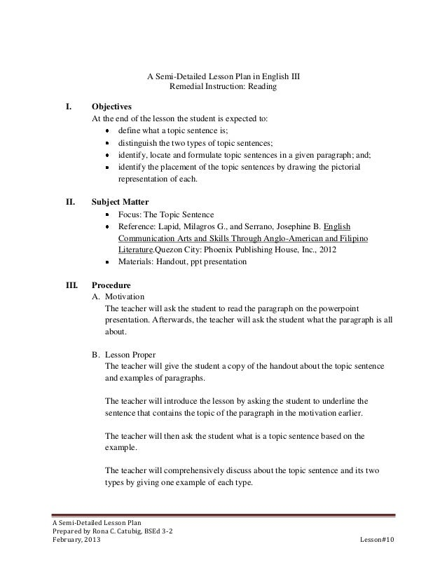 semi detailed lesson plan in music